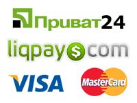 Принимаем оплату картами Visa и Mastercard, Приват24